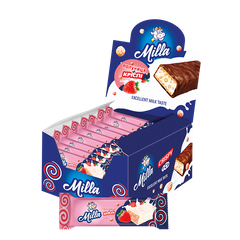 MILLA strawberry bars with Crispy | 25 pc.